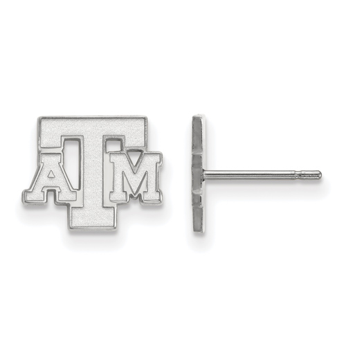 Sterling Silver Texas A&M University Extra Small Post Earrings