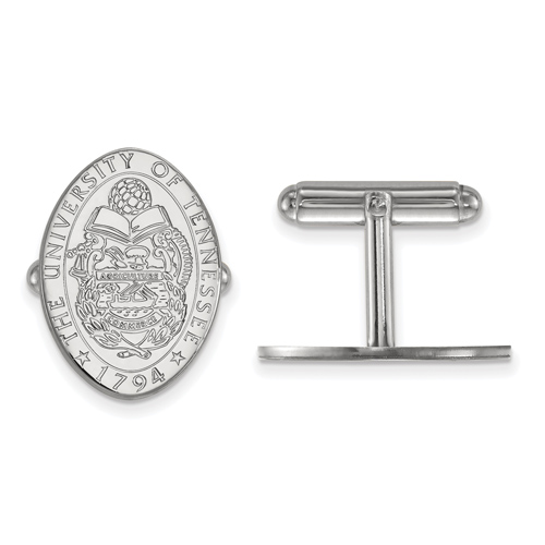 Sterling Silver University of Tennessee Crest Cuff Links
