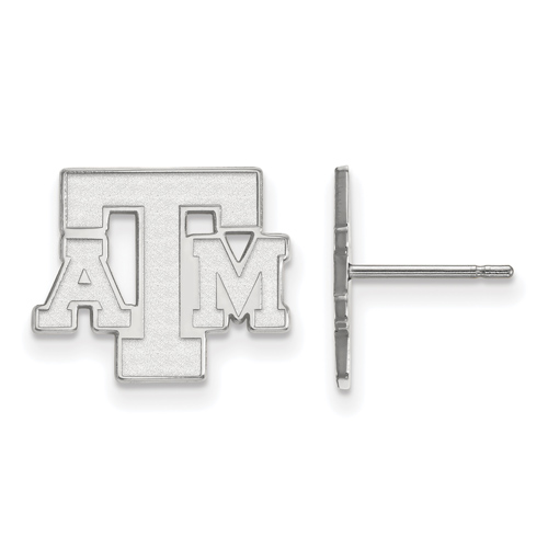 Sterling Silver Texas A&M University Small Post Earrings
