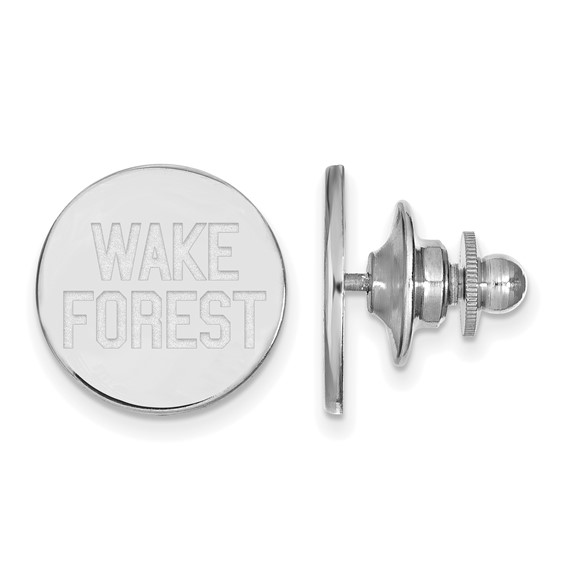 Wake Forest University Lapel Pin Sterling Silver