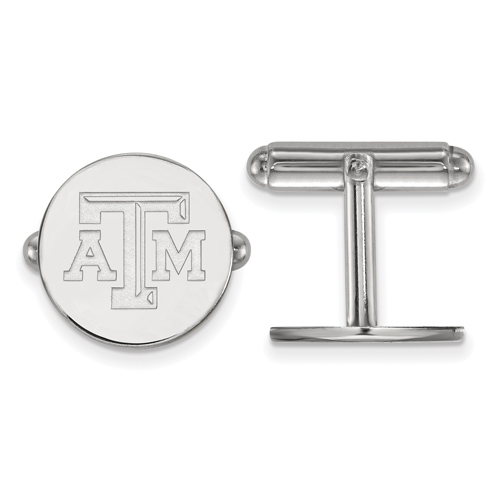 Sterling Silver Texas A&M University Cuff Links
