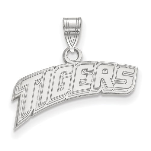 Sterling Silver 3/8in Arched TIGERS Pendant