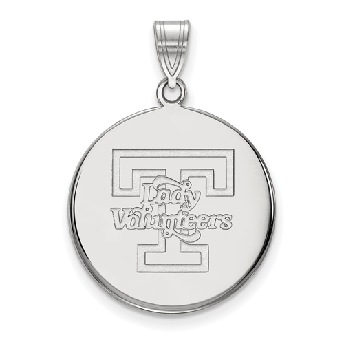 Sterling Silver 7/8in University of Tennessee Disc Pendant