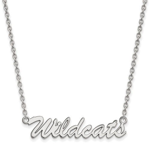 Sterling Silver Wildcats Pendant with 18in Chain