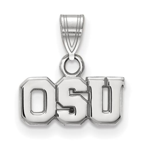 Sterling Silver 1/4in Ohio State University OSU Pendant