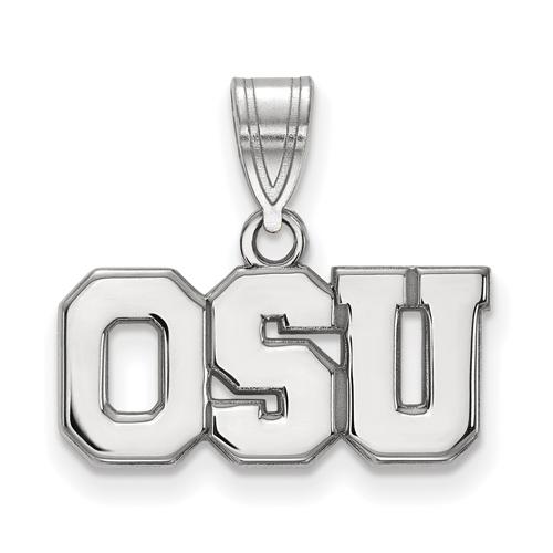 Sterling Silver 3/8in Ohio State University OSU Pendant
