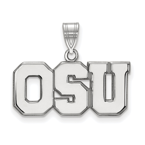 Sterling Silver Ohio State University OSU Pendant