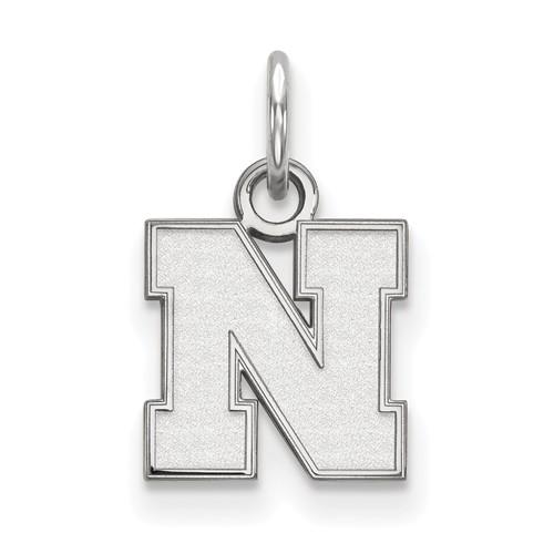 Sterling Silver 3/8in University of Nebraska N Pendant