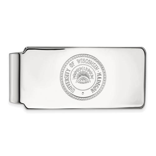 Sterling Silver University of Wisconsin Badger Money Clip