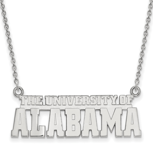 Sterling Silver The University of Alabama Pendant