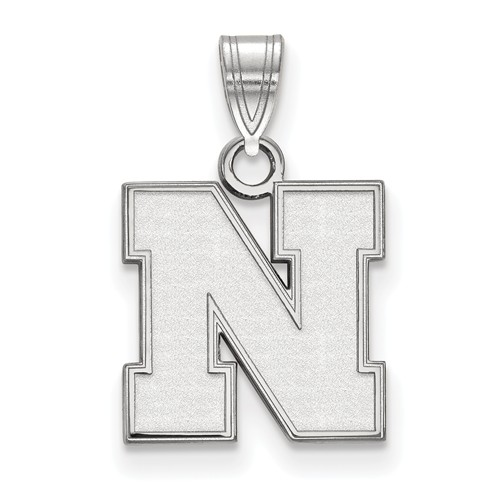 Sterling Silver 1/2in University of Nebraska N Pendant