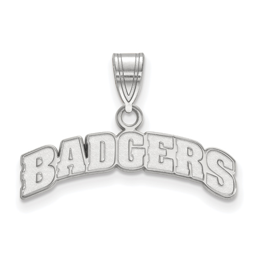 Sterling Silver University of Wisconsin BADGERS Pendant