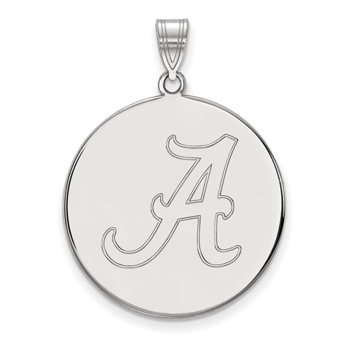 Sterling Silver 1in University of Alabama Round Pendant