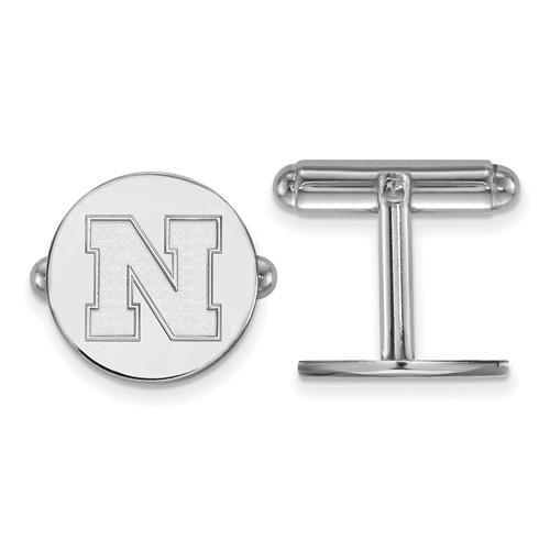 Sterling Silver University of Nebraska N Cuff Links