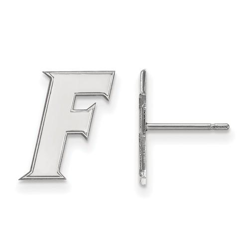 Sterling Silver University of Florida Gator F Post Earrings