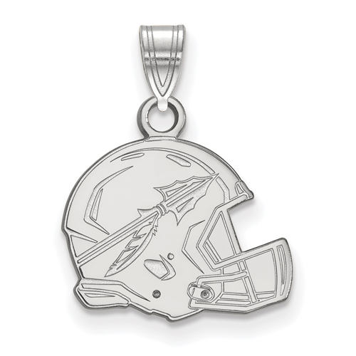 Sterling Silver 1/2in Florida State University Helmet Pendant