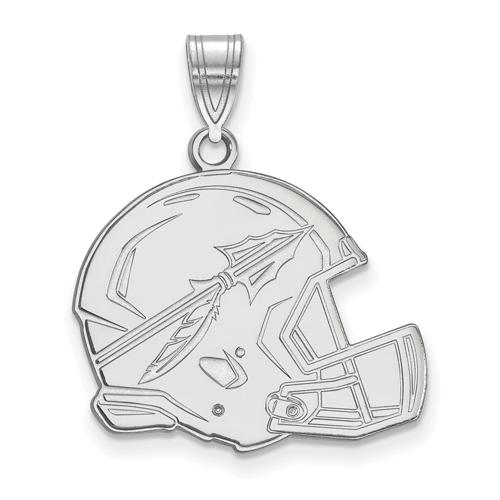 Florida State Univ. Arrow Football Helmet Pendant 3/4in 10k White Gold