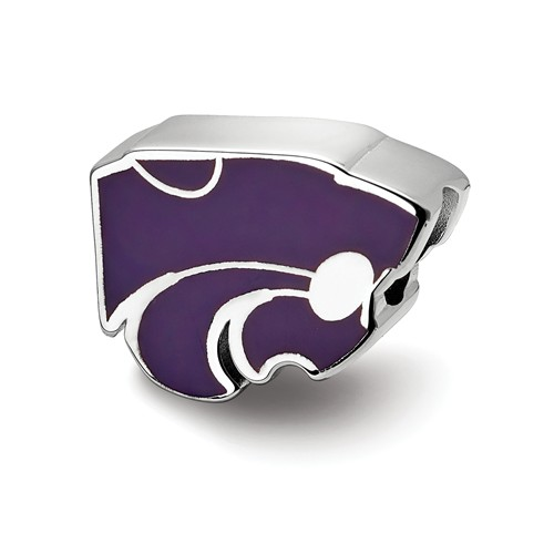 Sterling Silver Kansas State University Wildcat Bead