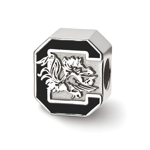 Sterling Silver University of South Carolina Enameled Bead