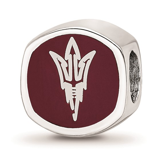 Sterling Silver Arizona State University Double-sided Bead