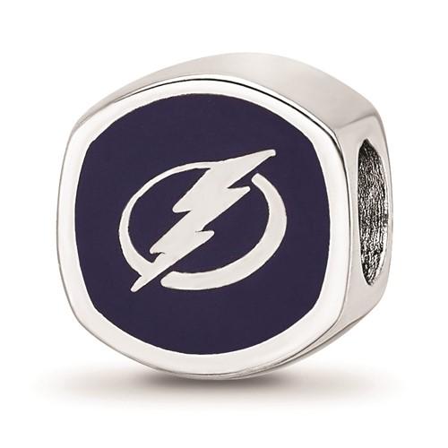 Sterling Silver Tampa Bay Lightning Bead