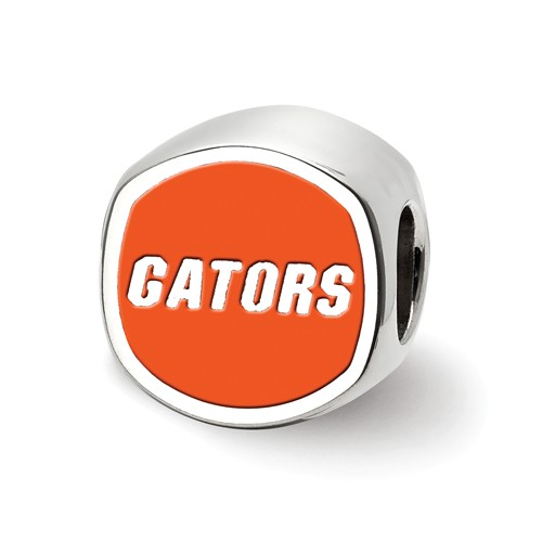 Sterling Silver University of Florida GATORS Enameled Bead