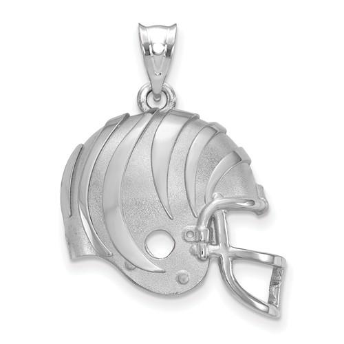 Cincinnati Bengals Football Helmet Pendant Sterling Silver