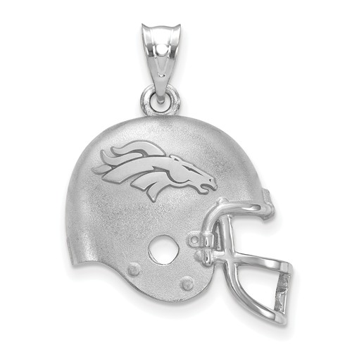 Denver Broncos Football Helmet Pendant Sterling Silver