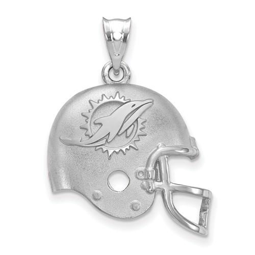 Miami Dolphins Football Helmet Pendant Sterling Silver