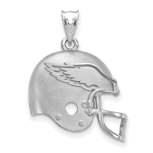 Philadelphia Eagles Football Helmet Pendant Sterling Silver