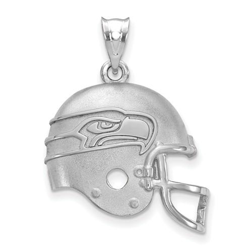 Seattle Seahawks Football Helmet Pendant Sterling Silver