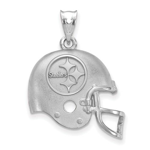 Pittsburgh Steelers Football Helmet Pendant Sterling Silver