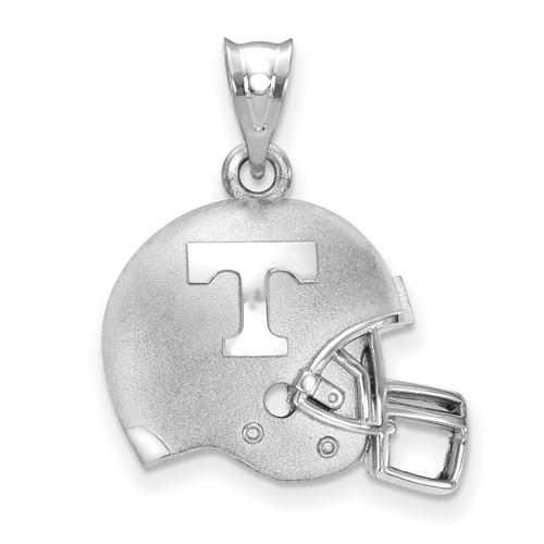 Sterling Silver 3/4in University of Tennessee Football Helmet Pendant
