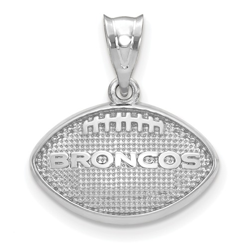 Denver Broncos Football Pendant Sterling Silver