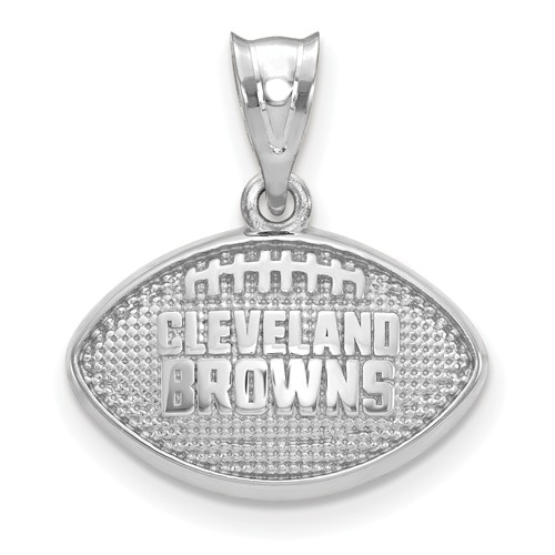 Cleveland Browns Football Pendant Sterling Silver