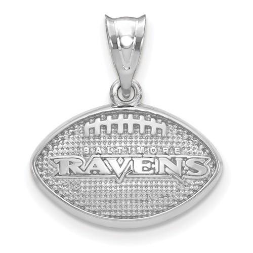 Baltimore Ravens Football Pendant Sterling Silver