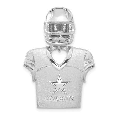 Sterling Silver Dallas Cowboys Jersey Helmet Pendant 1 1/4in