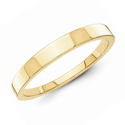 14kt Yellow Gold 3mm Tapered Polished Wedding Band