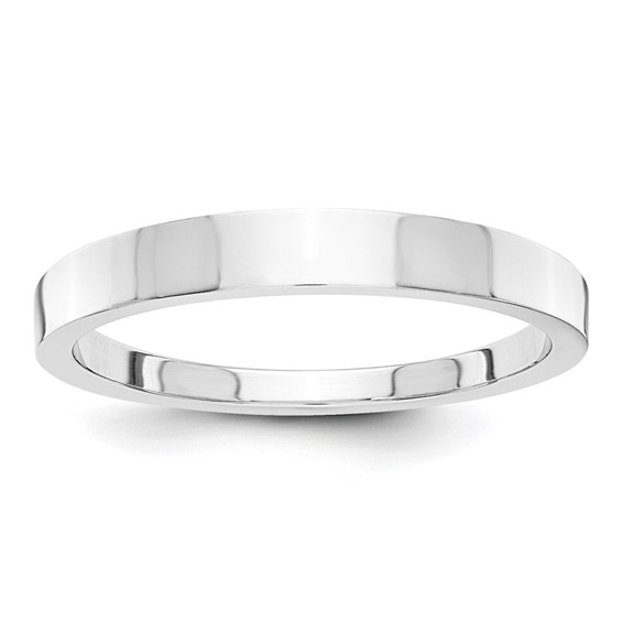 14kt White Gold 3mm Tapered Polished Wedding Band