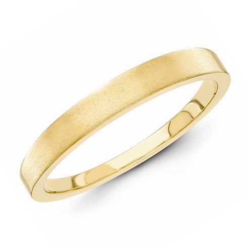 14kt Yellow Gold 3mm Tapered Satin Wedding Band