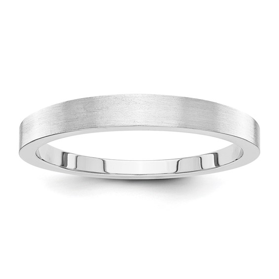 14kt White Gold 3mm Tapered Satin Wedding Band