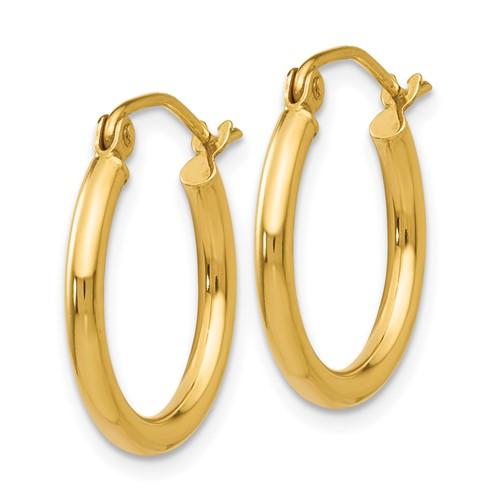 14kt Yellow Gold 5/8in Lightweight Classic Hoop Earrings
