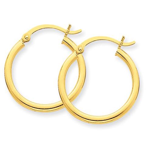 14kt Yellow Gold 3/4in Lightweight Classic Hoop Earrings