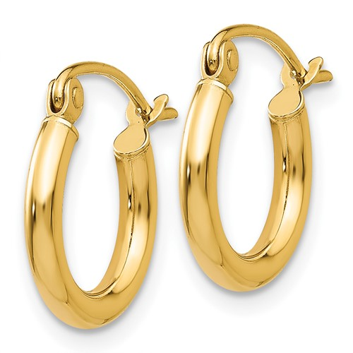 14kt Yellow Gold 1/2in Lightweight Classic Hoop Earrings
