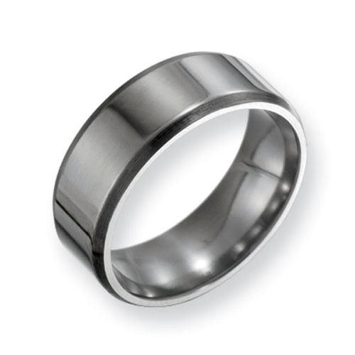 Titanium 8mm Band with Beveled Edges