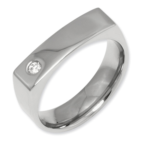 1/10 CT Diamond Titanium 6mm Band