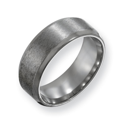 Titanium 8mm Satin Band with Beveled Edges