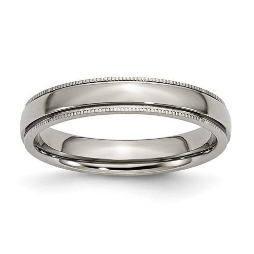 Titanium 6mm Milgrain Wedding Band