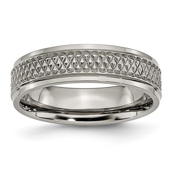 Titanium Weave Design 6mm Band