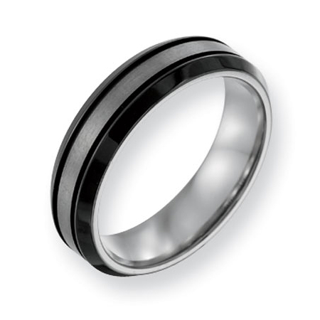 Titanium Black Plated 8mm Band